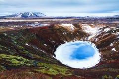 Kerid crater lake Stock Photos