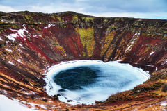 Kerid crater lake Iceland Royalty Free Stock Image