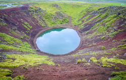 Kerid crater Royalty Free Stock Photo