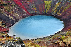 Kerid volcanic crater in Iceland Royalty Free Stock Photography