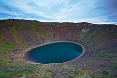 Kerid, volcanic crater lake, Iceland Stock Images