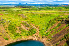Kerid, volcanic crater lake in Iceland Royalty Free Stock Photo