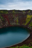 Kerid Vulkanische Krater in IJsland, Europa stock foto's