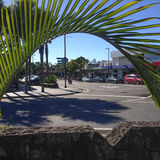 Kerikeri, Neuseeland NZ - 2. Mai 2017: Der Einbahnverkehr sy stockfoto