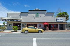 Kerikeri - Northland New Zealand. KERIKERI, NZ - DEC 22:Cathay Cinemas and cafe  on Dec 22 2013. It's the largest town in Northland NZ and it has some of the Royalty Free Stock Photos