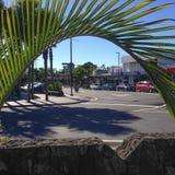 Kerikeri, Nuova Zelanda NZ - 2 maggio 2017: La circolazione a senso unico sy fotografia stock