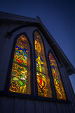 KERIKERI, NZ - SEP 5: Stained Glass Windows of the St James Church in Kerikeri New Zealand on Sep 5 2012. KERIKERI, NZ - SEP 5: Stained Glass Windows of the St Royalty Free Stock Photography