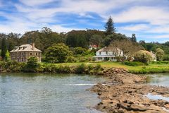 Historic Buildings in Kerikeri, New Zealand. Kerikeri was one of the first places in New Zealand settled by Europeans, and so contains some of the country`s Royalty Free Stock Images