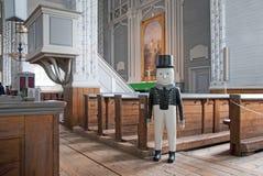 Kerimaki 芬兰 木教会内部 免版税库存图片