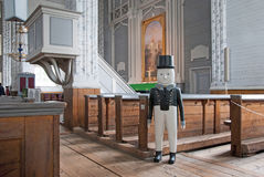 Kerimaki. Finland. Wooden church interior Royalty Free Stock Images