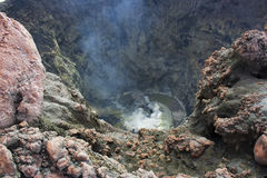 Kerinci volcano crater on the island of Sumatra, Indonesia Royalty Free Stock Photography