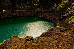 Kerio volcano crater lake on Iceland. Royalty Free Stock Photo