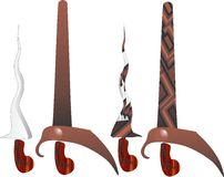 Keris è la spada di abitante di Giava in Indonesia Fotografie Stock Libere da Diritti