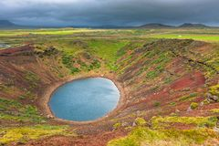 Kerith Volcano Crater In Iceland Royalty Free Stock Image