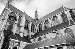 Kerk in Alkmaar, Nederland Stock Afbeelding