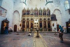 Kerk in Ananuri Stock Fotografie