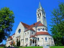 kerk, architectuur, de bouw, oude toren, Europa, kathedraal, godsdienst, stad, Duitsland, stad, oriëntatiepunt, reis, gotisch kas stock afbeelding