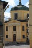 Kerk in Banska Stiavnica, Slowakije royalty-vrije stock afbeeldingen