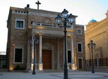 Kerk in Beiroet Van de binnenstad, Libanon Royalty-vrije Stock Foto's