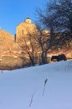 Kerk in bergen stock foto