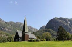Kerk in bergen Stock Foto's