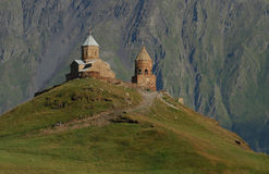 Kerk in bergen Royalty-vrije Stock Foto's