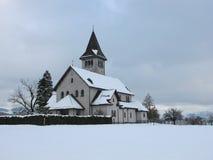 Kerk bij Kerstmis Stock Afbeeldingen