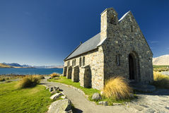 Kerk bij Meer Tekapo, Nieuw Zeeland Stock Afbeeldingen