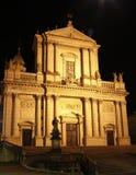 Kerk bij nacht Stock Fotografie