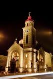 Kerk bij nigtht Stock Foto
