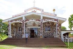 Kerk bij Pasen-Eiland, Chili Stock Afbeeldingen