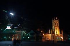 Kerk bij Rand, Shimla Royalty-vrije Stock Foto's