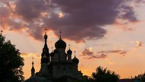 Kerk bij zonsondergang Royalty-vrije Stock Fotografie