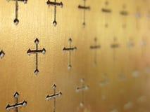 Kerk binnenlandse abstracte achtergrond Abstracte selectieve nadruk Stock Foto
