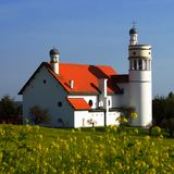 Kerk in Bogojina, Slovenië Stock Foto