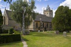 Kerk in bourton op het water Stock Afbeeldingen
