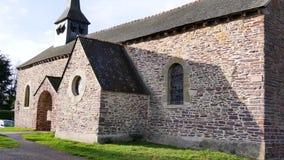 Kerk in Bretagne, Frankrijk stock videobeelden