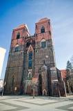 Kerk in Brzeg, Polen royalty-vrije stock afbeelding