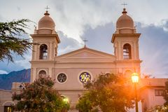 Kerk in Cafayate in Salta Argentinië Stock Foto