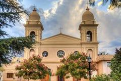 Kerk in Cafayate in Salta Argentinië. Stock Afbeeldingen