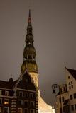Kerk in centrum van Oud Riga Royalty-vrije Stock Fotografie