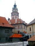 Kerk in Cesky Krumlov Royalty-vrije Stock Foto