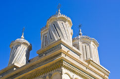 Kerk in Curtea DE Arges, Roemenië Stock Foto