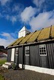 Kerk in de Faeröer Stock Foto's