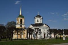 Kerk in de manor van Telling Sheremetyev, Kuskovo, Moskou royalty-vrije stock fotografie