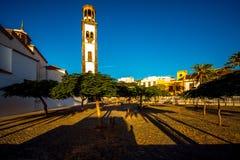 Kerk in de oude stad van Santa Cruz royalty-vrije stock foto