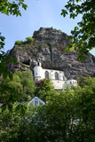 Kerk in de rots royalty-vrije stock foto