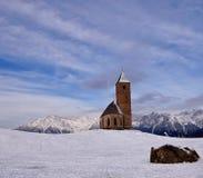 Kerk in de sneeuw Royalty-vrije Stock Afbeelding
