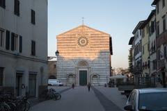 Kerk in de stad van Luca, Itali? royalty-vrije stock afbeelding