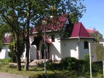 Kerk in de stad van Minsk stock afbeelding